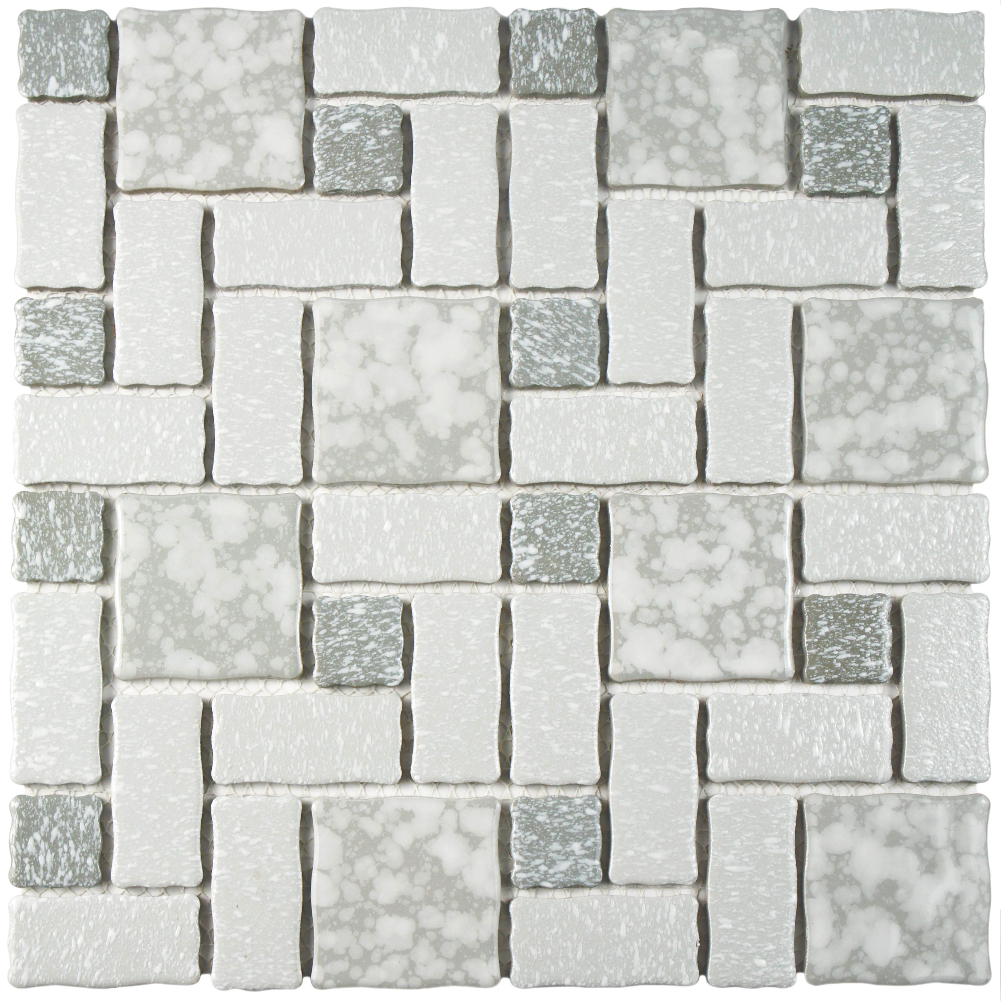 Elitetile pallas random sized porcelain mosaic tile in gray and somertile collegiate grey porcelain mosaic floor and wall tile case of overstock shopping big discounts on somertile floor tiles dailygadgetfo Images