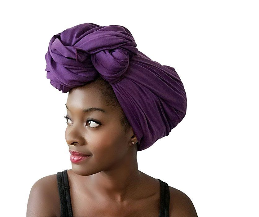 Stretch Head Wrap-Solid Color Jersey Knit Headwrap Turban Hair Scarf Tie by Rayna Josephine (Jewel Teal) at Amazon Women's Clothing store: