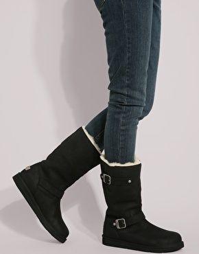 285e04e651 UGG Kensington black biker boots | boots | Black biker boots, Uggs ...