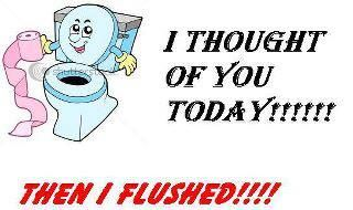 Then I flushed