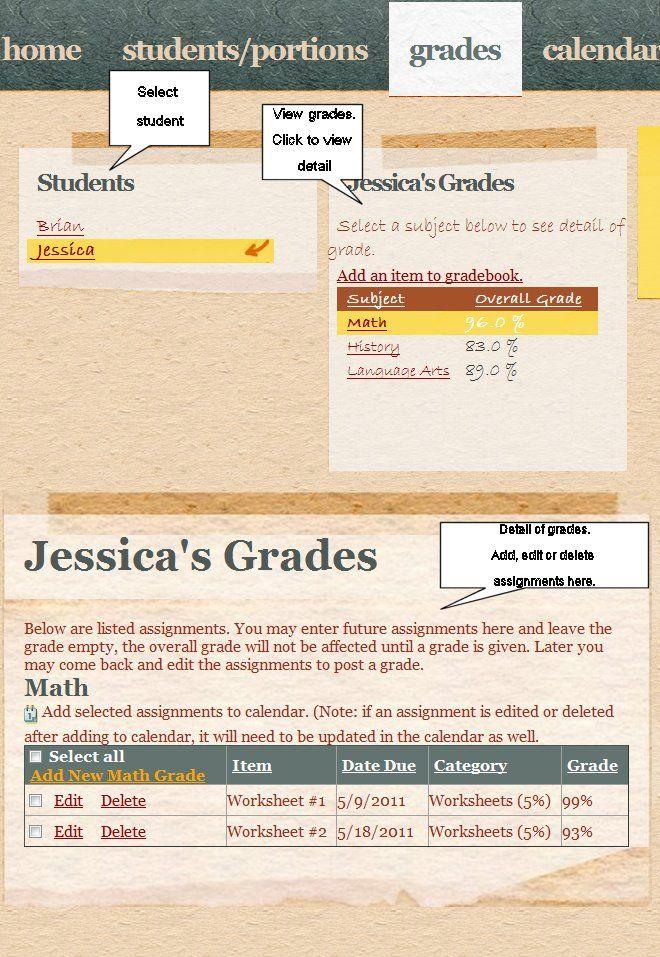 Homeschooling records grade and attendance tracker