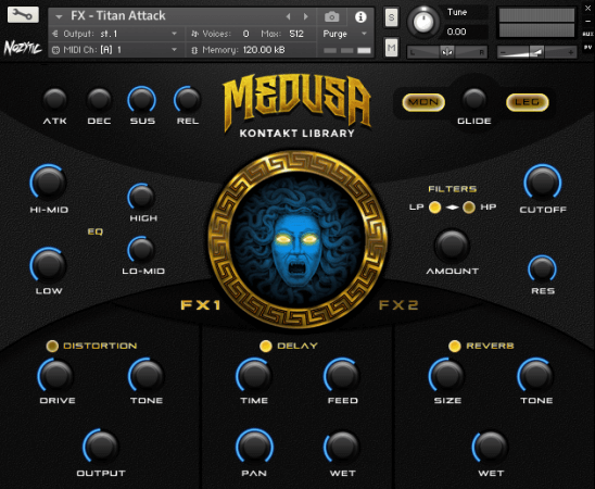 Nozytic - Medusa (KONTAKT) This powerful library for Kontakt