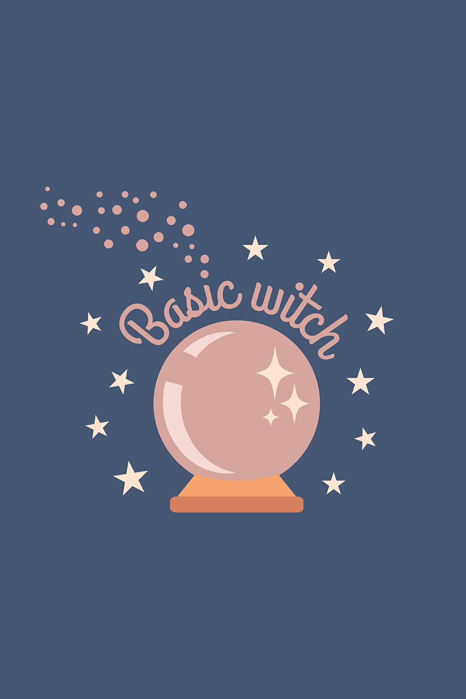 Basic Witch Crystal Ball Emoji Art Print Witch Crystal Ball Emoji Art Basic Witch