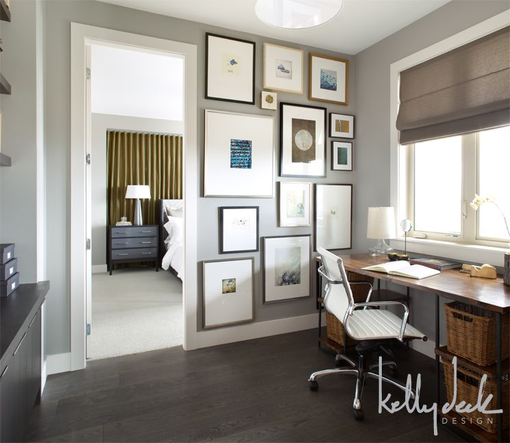 more gray paint color ideas home office paint color with dark wood floor and desk