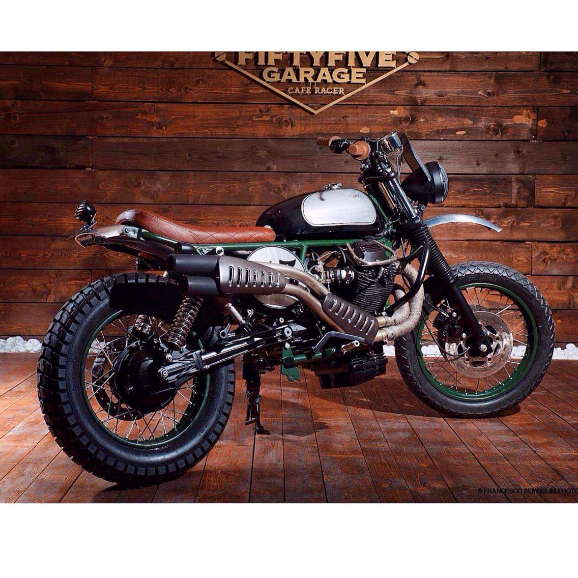 MotoGuzzi TuttoTerreno by FiftyFive Garage, Italy
