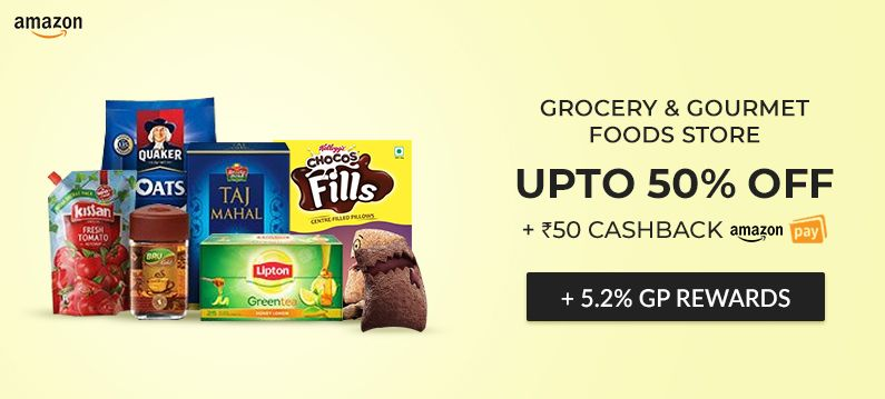 Rs Christmas Pudding 2020 50% Discount on Grocery + Rs.50 Cashback on through Amazon Pay