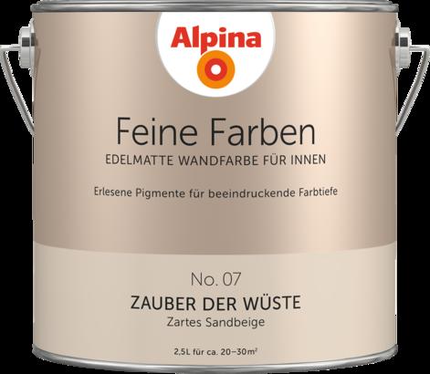 Premium Wandfarbe Braun Sandbeige Alpina Feine Farben Zauber