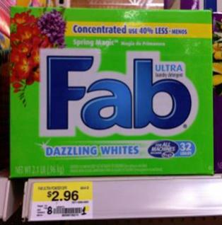 Fab Detergent Just 96 At Walmart Fab Laundry Detergent