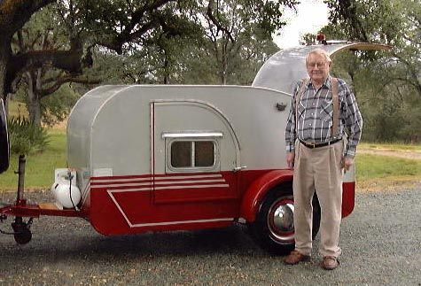 Getting ideas for painting our vintage teardrop trailer