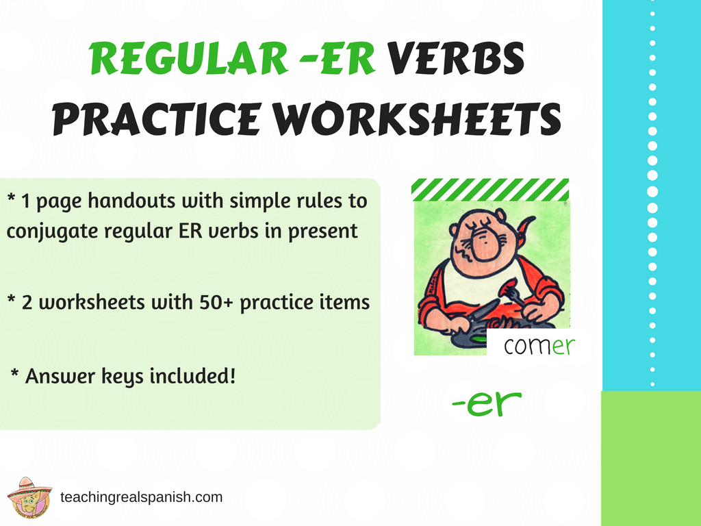 Er Verb Worksheets Regular Simple Present