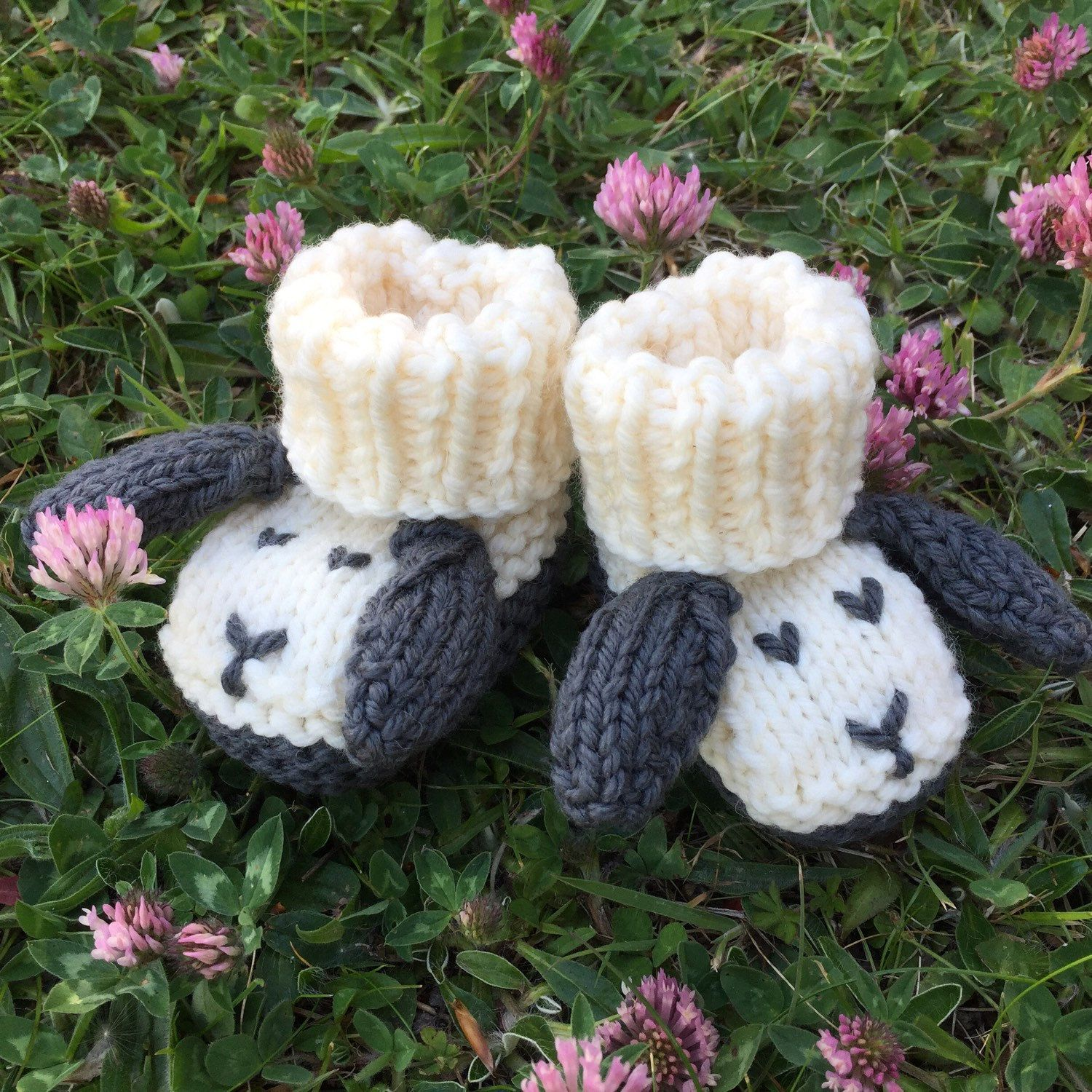 BABY KNITTING PATTERN in pdf - Little Sheep Booties for Babies ...