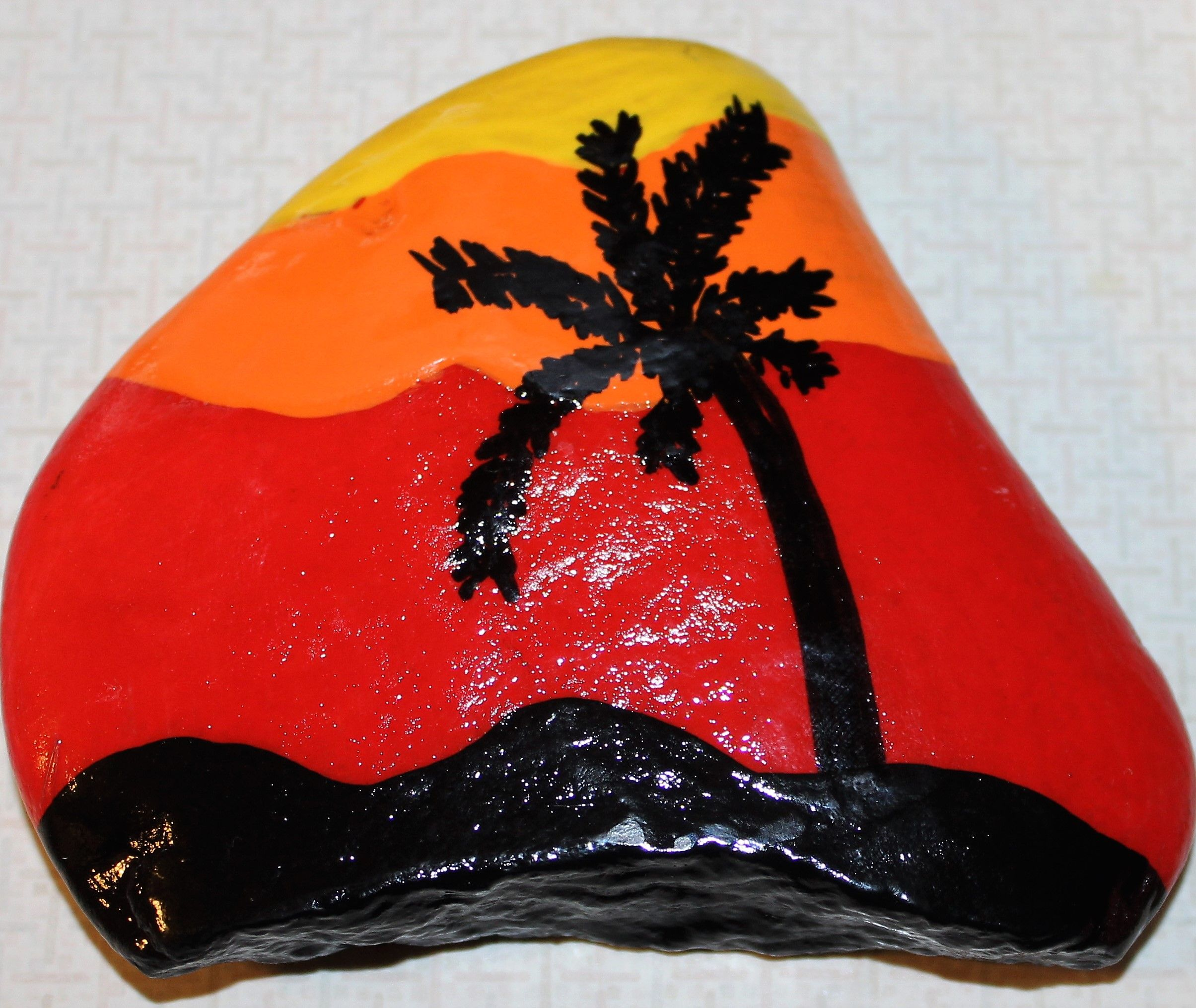 Rock painted by me for Prattville Rocks FB Group page.