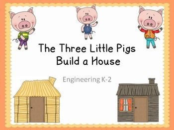 the 3 little pigs engineering challenge a fairy tale stem activity elementary steam science. Black Bedroom Furniture Sets. Home Design Ideas