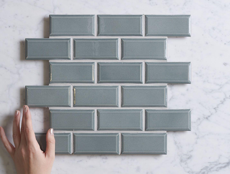 White Gums Green Glazed Bevelled Subway Tile | TileCloud | Avaliable ...