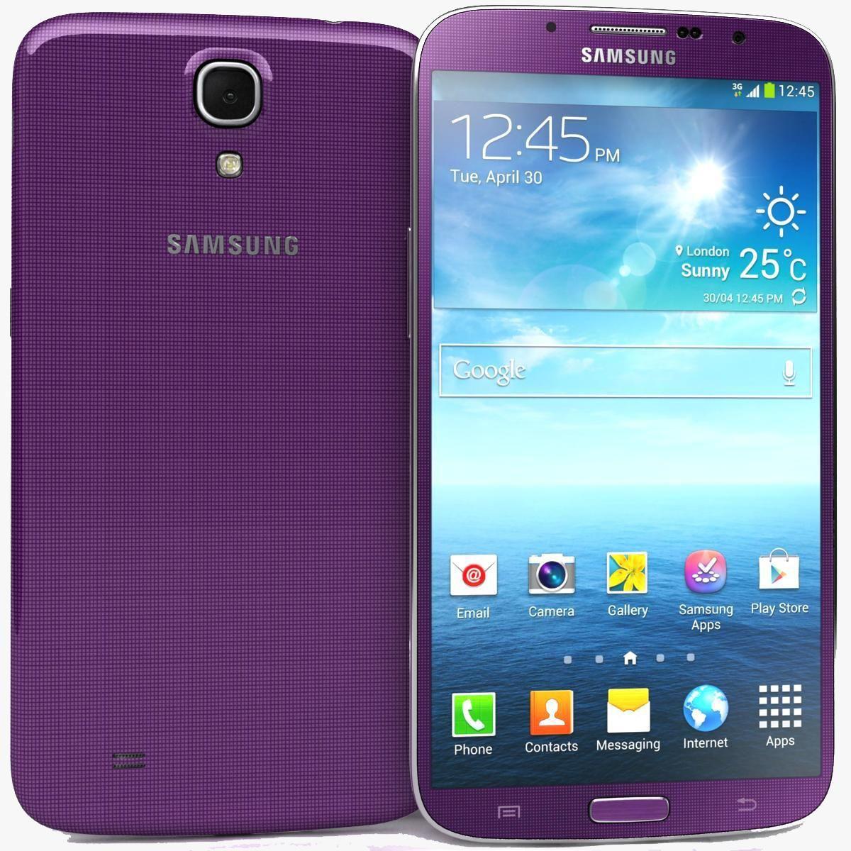 Samsung Galaxy Mega 6.3 I9200 Pink 3D Model AD ,Mega
