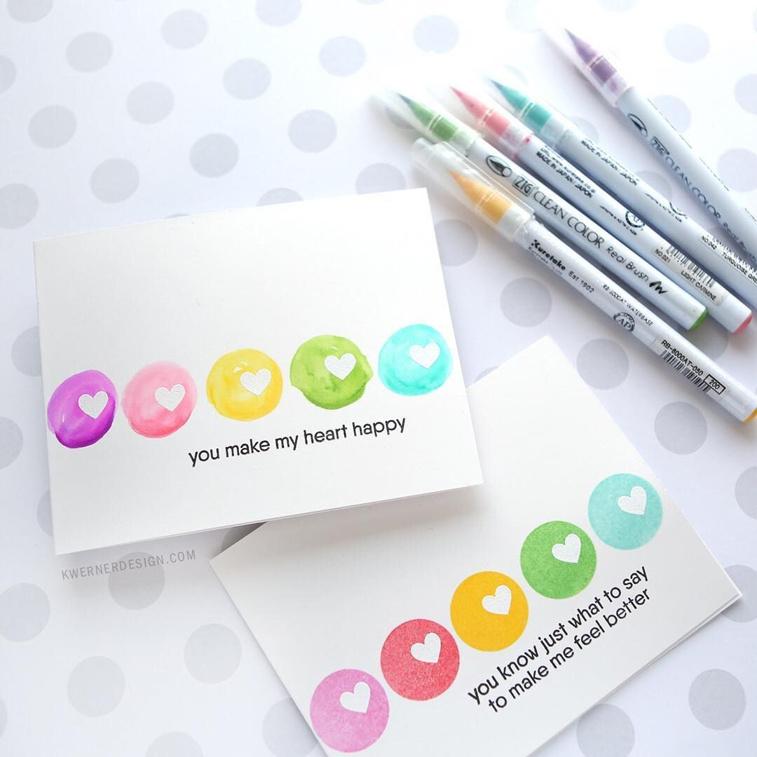 rainbow dots in ink  watercolor markers  diy christmas