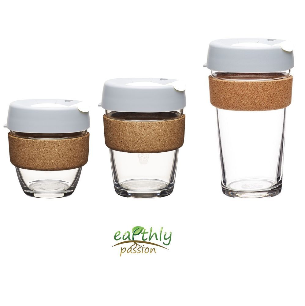 Think Cup Reusable Glass Coffee Cup 12oz Blush | Glass
