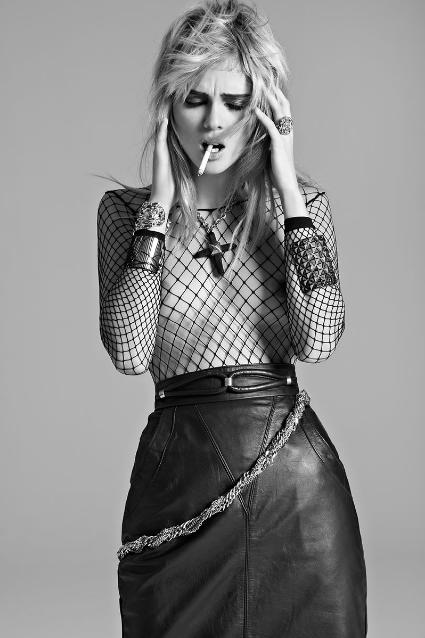 Leather skirt, fishnet top | My Inner Goth | Pinterest ...