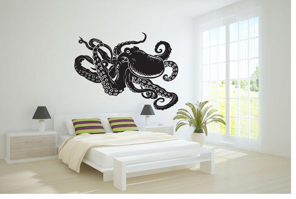 Wall Vinyl Sticker Decals Mural Art Decor Design Octopus Sea Fish Ocean #355 #3M #Contemporary