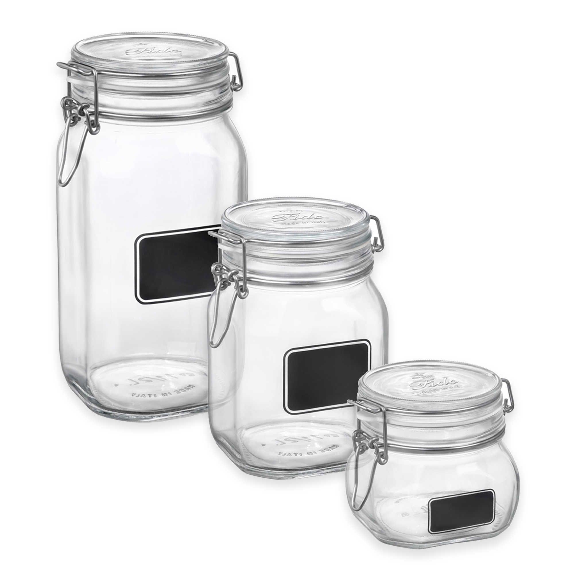 Bormioli Rocco Fido Square Chalk Label Jar Chalk Labels Jar Labels Jar