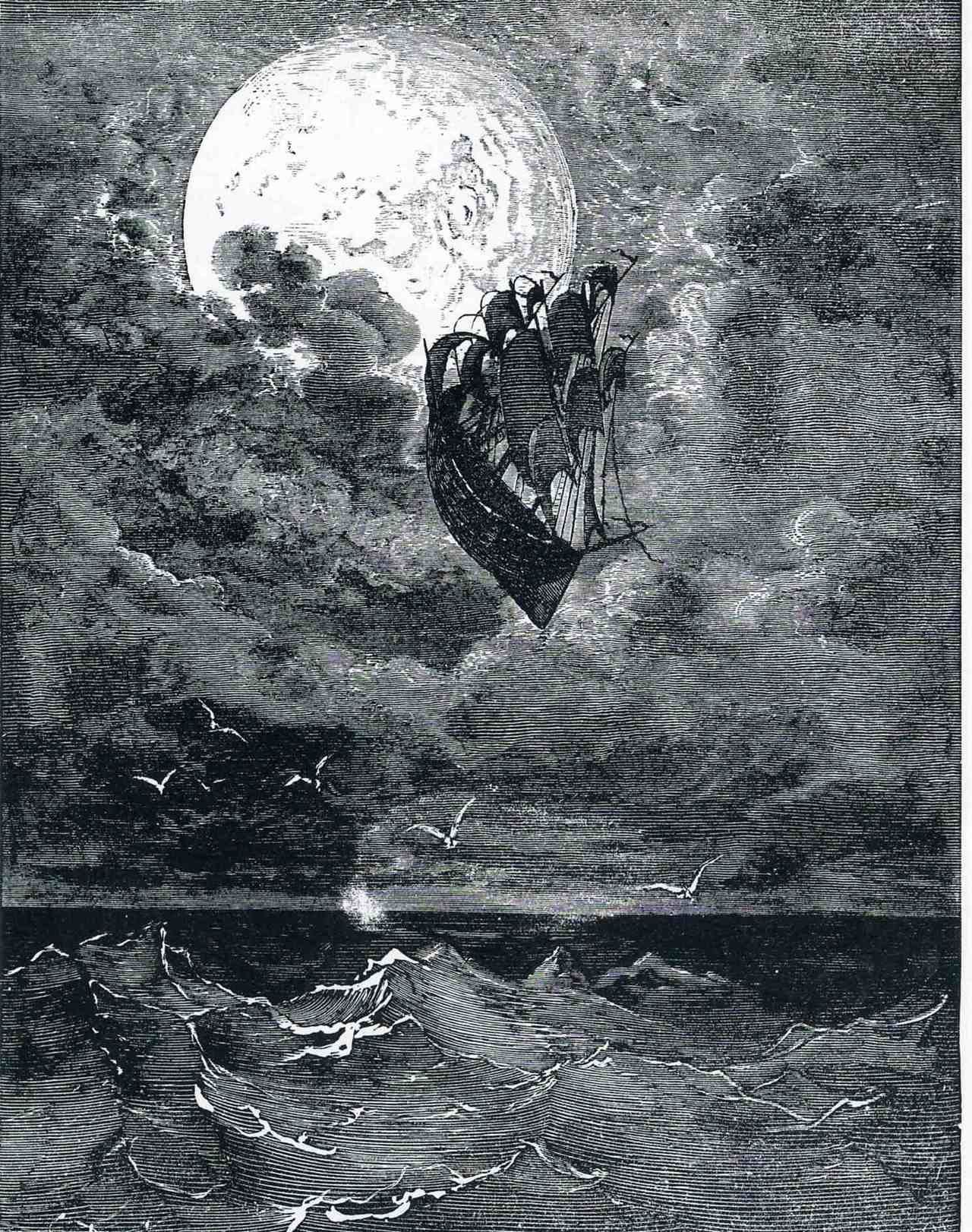 Gustave Dore Voyage Moon 1868 Part Of