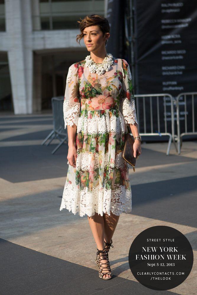 New York Fashion Week | Street Style from ClearlyContacts.ca | Dolce & Gabanna :: dress | JCrew :: necklace | Zara :: heels | Louis Vuitton :: Zippy Organizer | stalk me on instagram & twitter :: @thefashionbarr