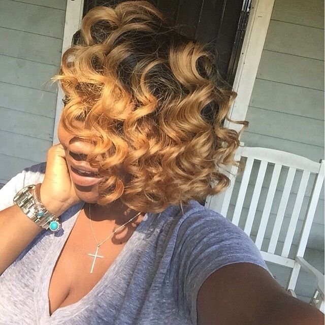 Curls ||To see more follow @Kiki&Slim | Human hair color, Bold hair color, Weave hairstyles
