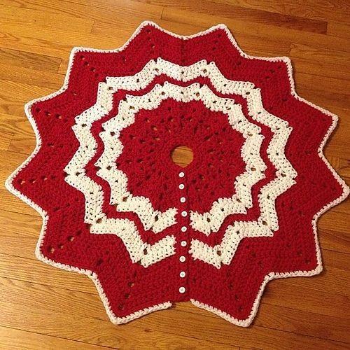 Ripple Free Knitting Pattern Crochet Christmas Tree Skirt For 2014