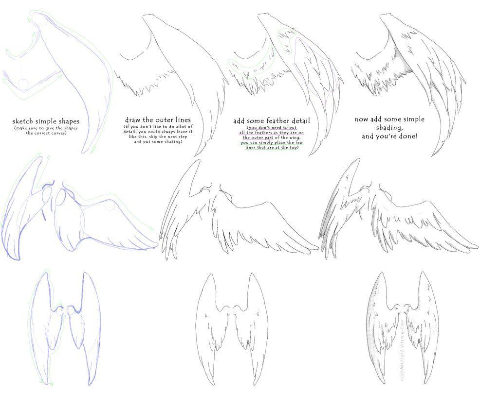 How to Draw - manga angel wings tutorial #1 | Angel | Pinterest ...