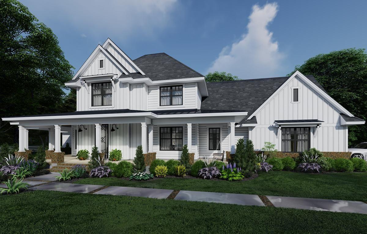 House Plan 9401-00106 - Modern Farmhouse Plan: 2,829 ...