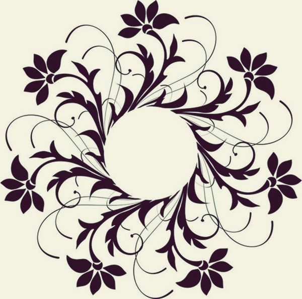Lace stencil. Printable patterns for