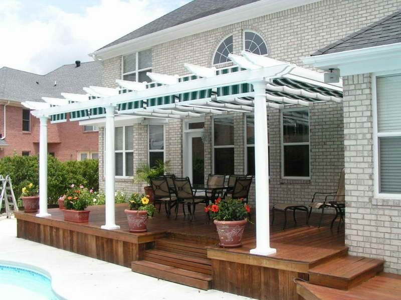 Contemporary Covered Deck Patio Ideas In Mobile Home Patio Ideas