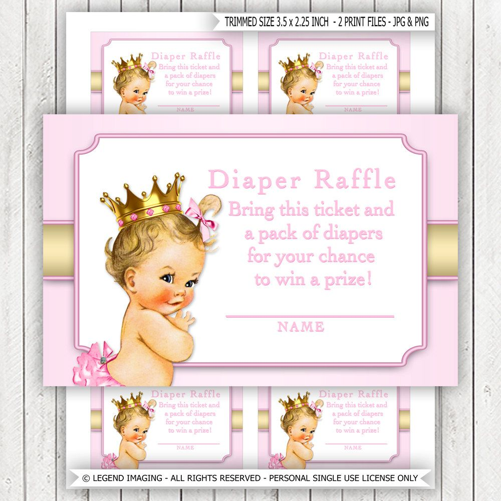 ethnic princess diaper raffle ticket african american princess princess diaper raffle ticket pink gold blonde princess diaper raffle tickets pink gold princess diaper raffle tickets