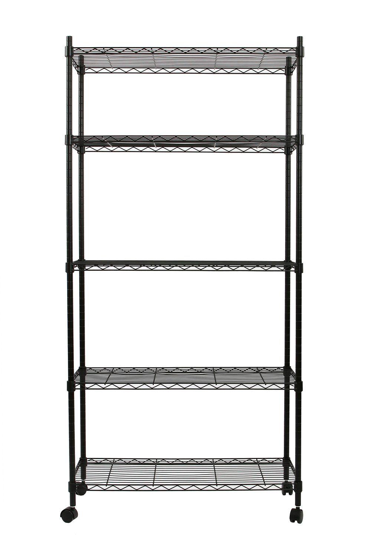 Finnhomy 5 Tier Wire Shelving Unit Adjustable Steel Wire Rack