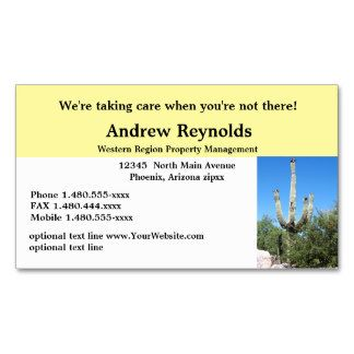 Realtor Property Manager Desert Southwest Business Card