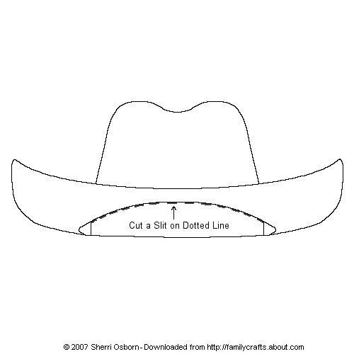 cowboy hat pattern # 14