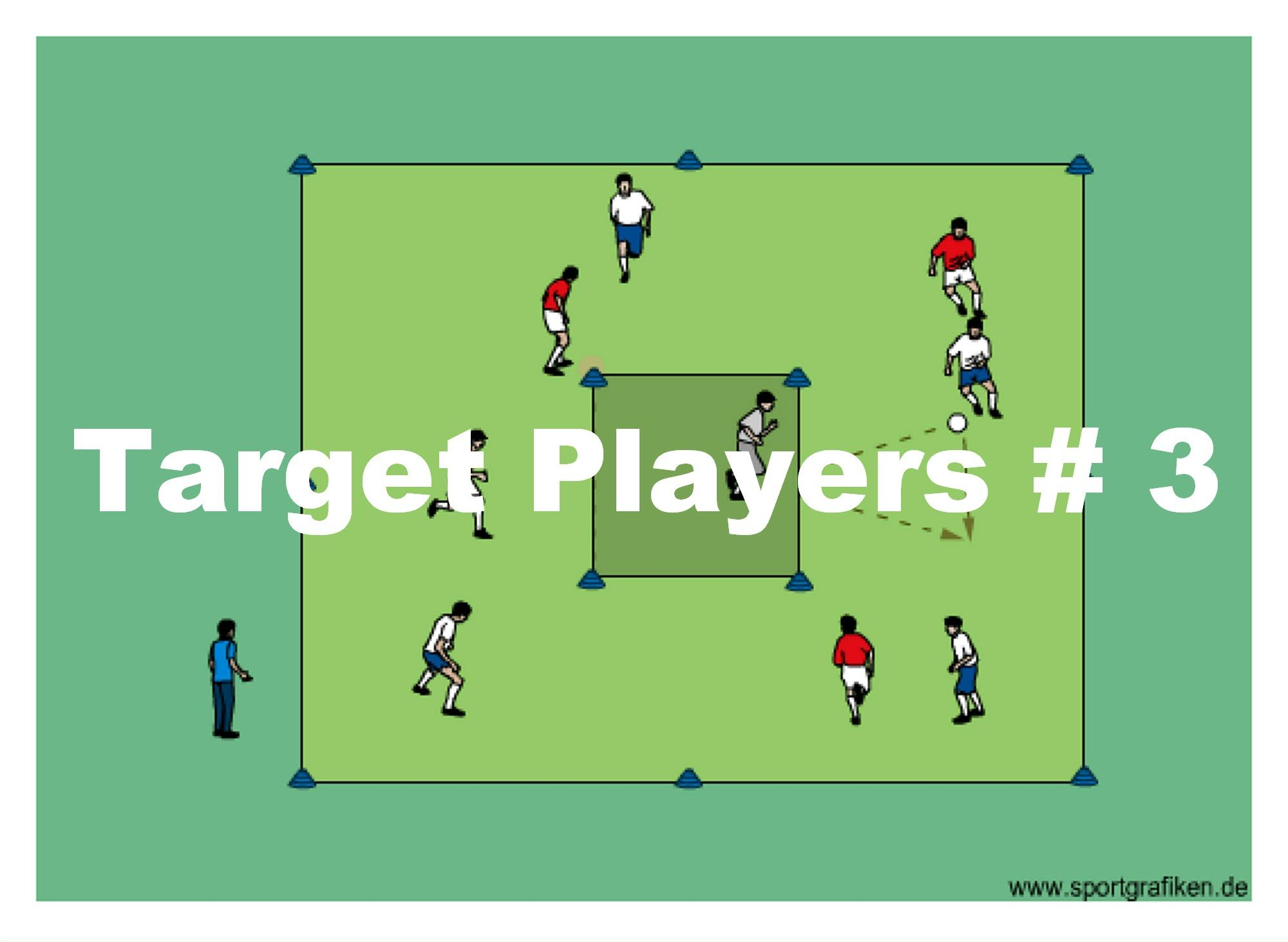 Target Players 3 Discover Our Dynamic Soccer Training Program With A Great Selection Of Passing Drills A Soccer Training Soccer Drills For Kids Soccer Drills