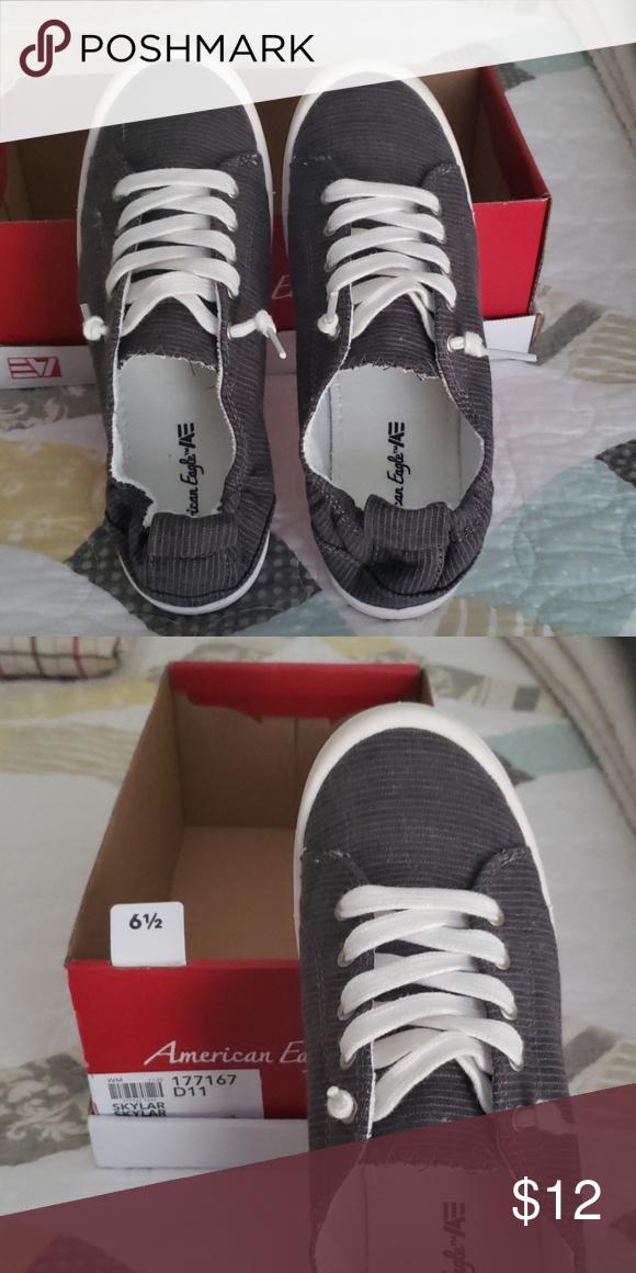 Slip on tennis shoes Gray American