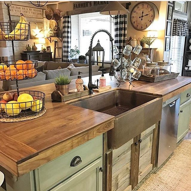 Home decor decor steals vintage decor vintage home decor farmhouse decor rustic decor - Pinterest country kitchen ...
