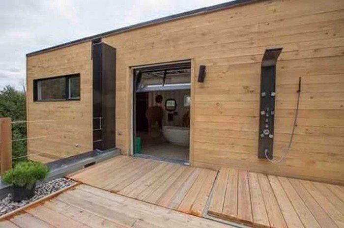 cette femme a achet 4 containers et les a transforms pour construire une maison magnifique - Les Materiaux Pour Construire Une Maison