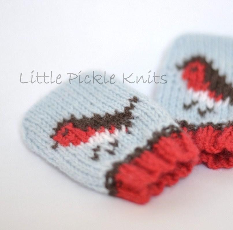Baby Christmas Mittens \' Little Robins \' | Stricken, Stricken und ...