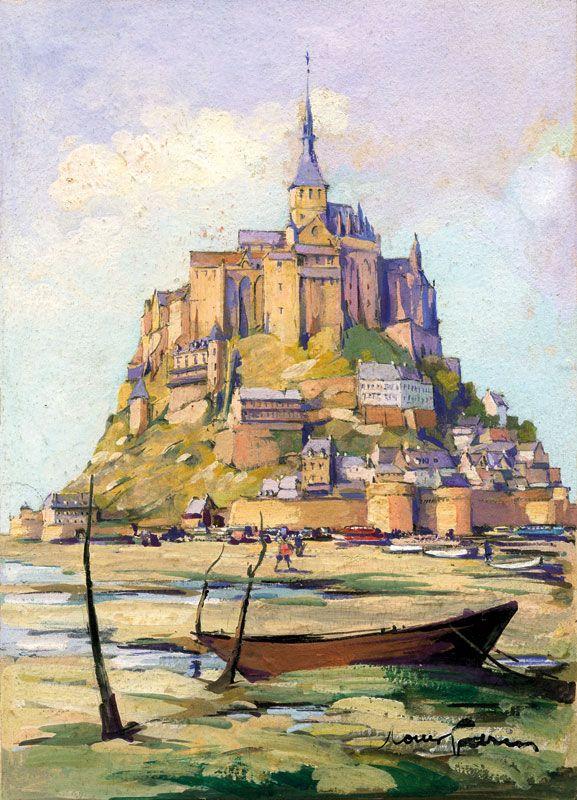 Louis Garin 1888 1959 Le Mont Saint Michel Mont Saint Michel