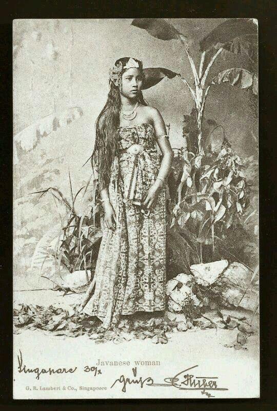 Mujer de Java .1898 ./tcc/ Sejarah, Indie, Fotografi