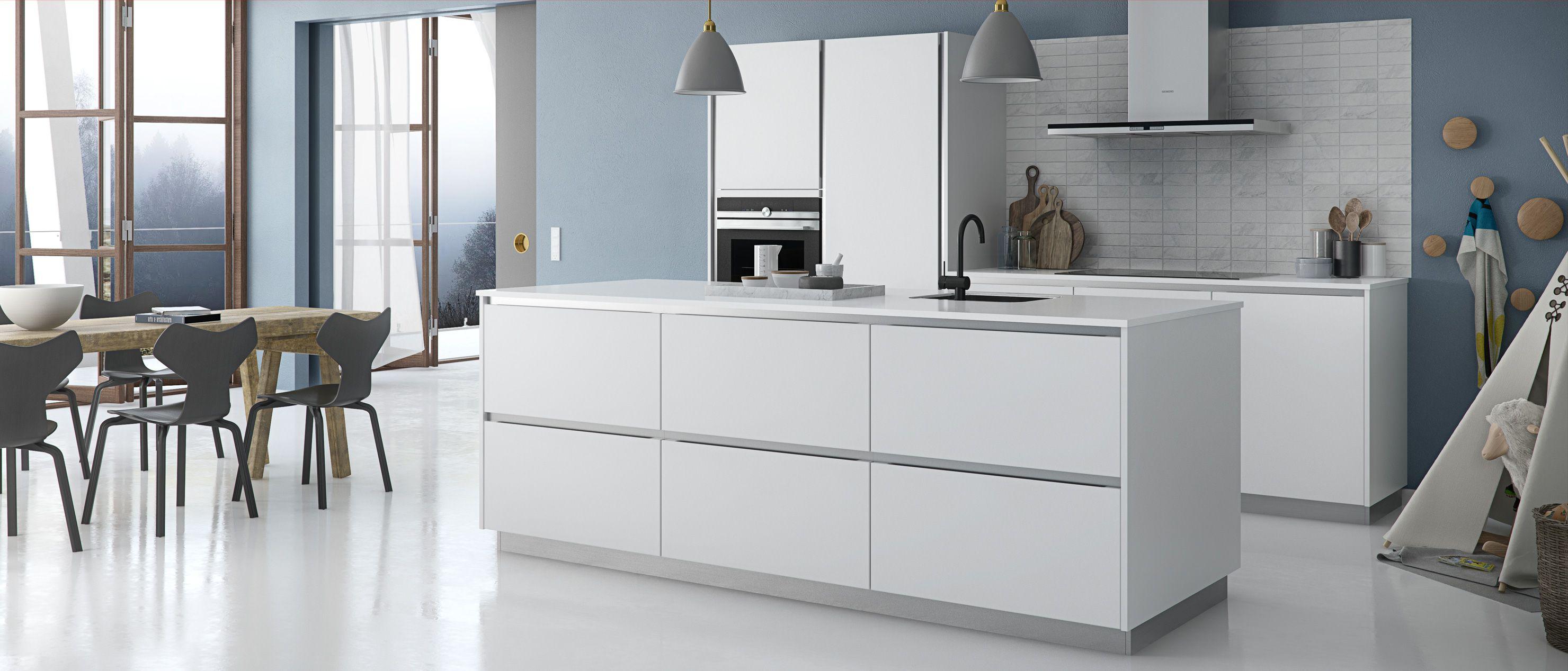 Cr ez un style simple et minimaliste avec une cuisine for Cuisine conviviale