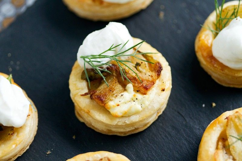 Fennel Puff Pastry Bites with Mascarpone | http://saltandwind.com