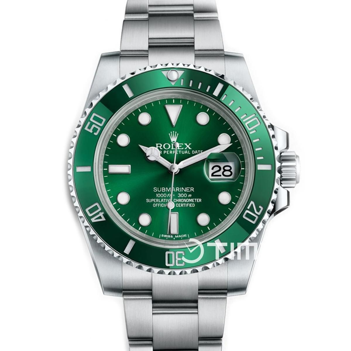 Dtime globally on time rolex submariner green rolex