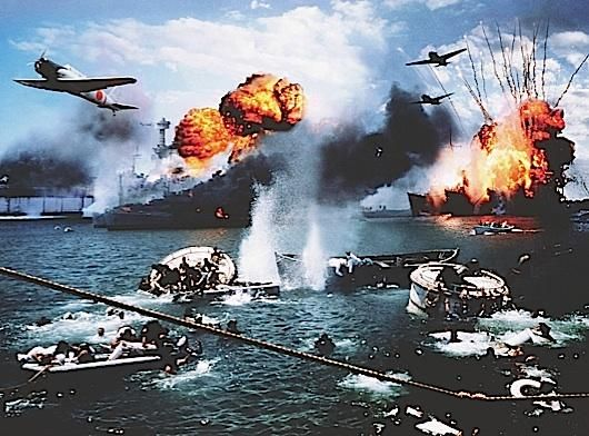 attack on pearl harbor usa in The japanese launched a surprise air attack on the us naval base at pearl harbor, damaging or sinking 21 ships and destroying more than 188 aircraft.