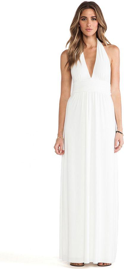 e48ff4fb4a9a T-Bags LosAngeles Plunging Halter Maxi Dress on shopstyle.com ...
