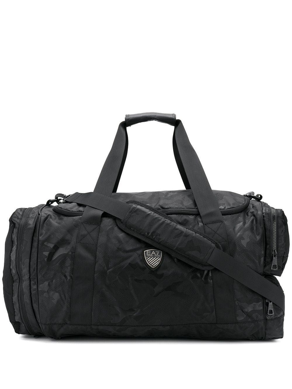 f4ad65894643 EA7 EMPORIO ARMANI EA7 EMPORIO ARMANI LOGO PATCH HOLDALL - BLACK.   ea7emporioarmani  bags