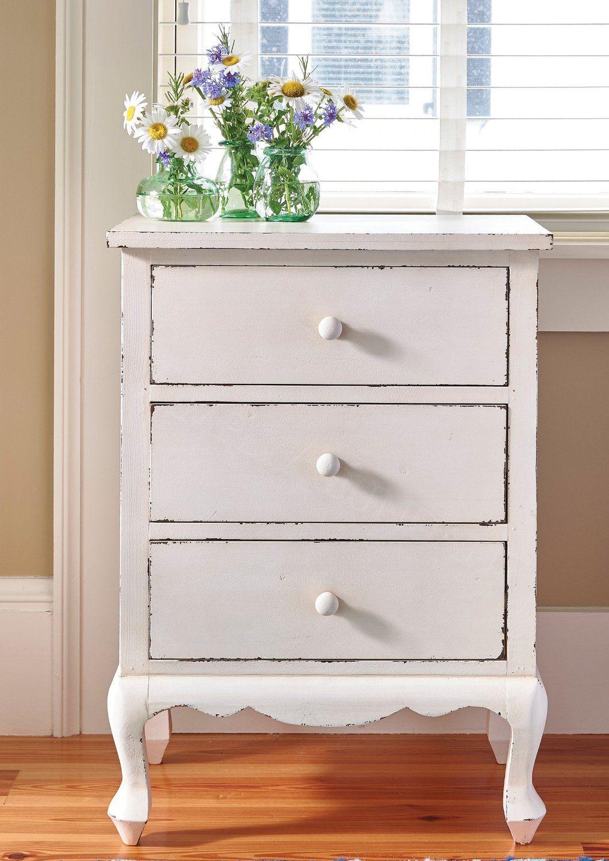 Versatile Farmhouse Cupboard Side Table, White